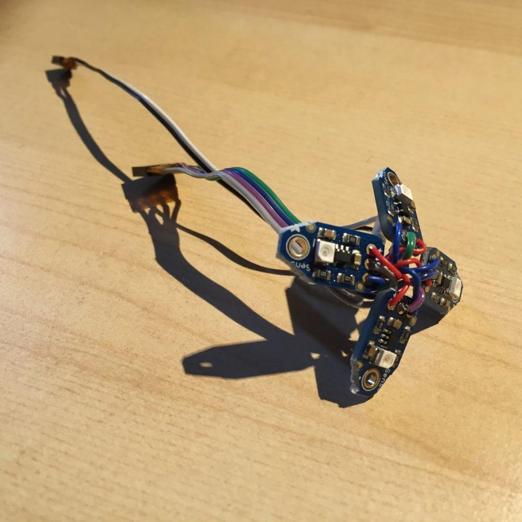 Wiring four UV-B sensors